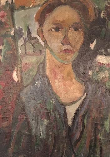 Antoon Kruysen 24 jaar zelfportret